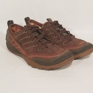 Womens size 10 merrell hiking shoes brown boots